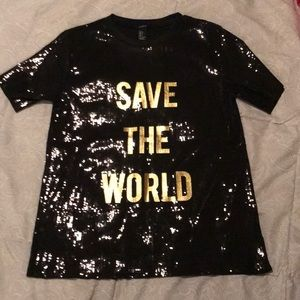 Forever21 sequined shirt